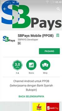 android sbpays kini tersedia di google playstore